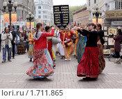 Купить «Кришнаиты на Арбате», фото № 1711865, снято 1 мая 2010 г. (c) Наталья / Фотобанк Лори
