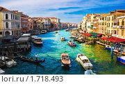 Большой Канал в Венеции, Италия (2008 год). Стоковое фото, фотограф Алексей Попов / Фотобанк Лори