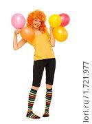 Купить «Смешная девушка в ярком парике», фото № 1721977, снято 23 мая 2010 г. (c) Типляшина Евгения / Фотобанк Лори