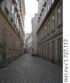 Купить «Узкая улица в Вене», фото № 1727117, снято 3 января 2010 г. (c) Дунаева Елена / Фотобанк Лори