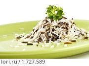 Купить «Смесь белого и дикого риса», фото № 1727589, снято 12 мая 2010 г. (c) Лисовская Наталья / Фотобанк Лори