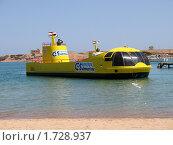 Купить «Субмарина - катер с прозрачным подводным отсеком», фото № 1728937, снято 20 мая 2009 г. (c) Марина Бандуркина / Фотобанк Лори