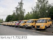 Купить «Жёлтые маршрутные такси Обнинска. Калужская область», эксклюзивное фото № 1732813, снято 25 мая 2010 г. (c) stargal / Фотобанк Лори
