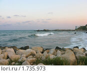 Купить «Море на закате: пейзаж», фото № 1735973, снято 22 февраля 2019 г. (c) Валентина Троль / Фотобанк Лори