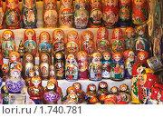Купить «Русские матрешки на прилавке», эксклюзивное фото № 1740781, снято 18 сентября 2009 г. (c) Алёшина Оксана / Фотобанк Лори