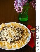Купить «Фарфалле макароны с сыром», фото № 1744325, снято 18 мая 2010 г. (c) Анна Лурье / Фотобанк Лори