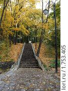 Купить «Центральный парк. Лестница», эксклюзивное фото № 1753405, снято 16 октября 2008 г. (c) Svet / Фотобанк Лори