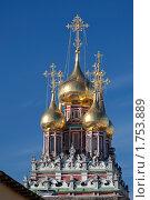Купить «Воскресения Христова Храм в Кадашах. Купола храма.», фото № 1753889, снято 13 марта 2010 г. (c) Юрий Назаров / Фотобанк Лори