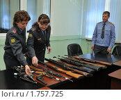 Купить «Изъятое оружие», эксклюзивное фото № 1757725, снято 18 мая 2010 г. (c) Free Wind / Фотобанк Лори