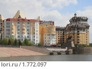 Купить «Вид на микрорайон Самал. Астана», фото № 1772097, снято 23 мая 2010 г. (c) Михаил Николаев / Фотобанк Лори