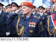 Купить «Военный на праздновании Дня Победы», фото № 1776845, снято 9 мая 2010 г. (c) Николай Гернет / Фотобанк Лори