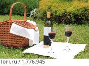 Пикник с вином. Стоковое фото, фотограф Дарья Петренко / Фотобанк Лори