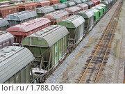 Купить «Железнодорожные вагоны», фото № 1788069, снято 27 июня 2009 г. (c) Фурсов Алексей / Фотобанк Лори