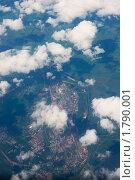 Подмосковье из иллюминатора самолета (2010 год). Стоковое фото, фотограф Артём Ласьков / Фотобанк Лори