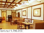 Купить «Интерьер ресторана кафе», фото № 1790313, снято 16 июня 2010 г. (c) Валышков Вячеслав / Фотобанк Лори