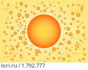 Купить «Солнце на жёлтом фоне», иллюстрация № 1792777 (c) Татьяна Васина / Фотобанк Лори