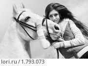 Девочка и лошадь. Стоковое фото, фотограф Елена Иценко / Фотобанк Лори