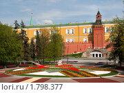 Купить «Флористическое оформление Александровского сада праздничные дни, Москва», фото № 1798377, снято 5 мая 2010 г. (c) Николай Винокуров / Фотобанк Лори