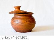 Глиняный горшок. Стоковое фото, фотограф Денис Петров / Фотобанк Лори