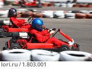 Купить «Картинг. Соревнование», фото № 1803001, снято 18 апреля 2010 г. (c) Татьяна Белова / Фотобанк Лори