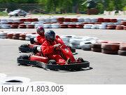 Купить «Картинг. Соревнование», фото № 1803005, снято 18 апреля 2010 г. (c) Татьяна Белова / Фотобанк Лори