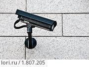 Камера видеонаблюдения. Стоковое фото, фотограф Константин Ёлшин / Фотобанк Лори