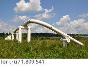 Купить «Магистральный нефтепровод высокого давления», фото № 1809541, снято 2 июля 2010 г. (c) Швадчак Василий / Фотобанк Лори
