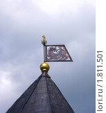 Купить «Прапор на Тарарыгиной башне Псково-Печорского Свято-Успенского монастыря», фото № 1811501, снято 29 июня 2010 г. (c) Валентина Троль / Фотобанк Лори