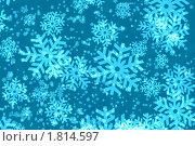 Купить «Абстрактный новогодний фон со снежинками», фото № 1814597, снято 16 июля 2019 г. (c) Наталия Скоморохова / Фотобанк Лори
