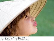Девочка во вьетнамской шляпе. Стоковое фото, фотограф Nikolay Safronov / Фотобанк Лори