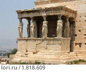 Купить «Кариатиды на Эрехтейоне (Акрополь, Афины, Греция)», фото № 1818609, снято 29 июня 2007 г. (c) Маргарита Лир / Фотобанк Лори