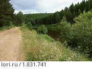 Дорога вдоль реки Вагран. Стоковое фото, фотограф Осипова Ирина / Фотобанк Лори
