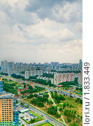 Купить «Вид в сторону центра с Юго-Запада Москвы», фото № 1833449, снято 10 июля 2009 г. (c) Kremchik / Фотобанк Лори