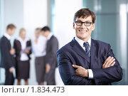 Купить «Успешный бизнесмен в офисе», фото № 1834473, снято 17 июня 2010 г. (c) Raev Denis / Фотобанк Лори