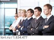Купить «Команда бизнесменов в офисе», фото № 1834477, снято 17 июня 2010 г. (c) Raev Denis / Фотобанк Лори