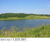 Купить «Пейзаж с озером в летний солнечный день», фото № 1835881, снято 10 июля 2010 г. (c) Валентина Троль / Фотобанк Лори