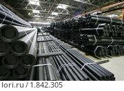 Купить «Производство труб из ПВХ», фото № 1842305, снято 1 марта 2005 г. (c) Vasily Smirnov / Фотобанк Лори