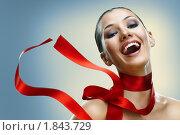 Купить «Девушка с красной лентой», фото № 1843729, снято 16 июля 2010 г. (c) Константин Юганов / Фотобанк Лори