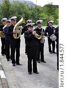 Купить «Российский военный оркестр», эксклюзивное фото № 1844577, снято 14 июля 2010 г. (c) Иван Мацкевич / Фотобанк Лори
