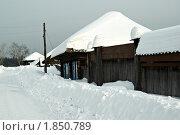 Зима в деревне. Стоковое фото, фотограф Сергей Зоммер / Фотобанк Лори