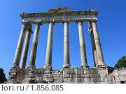Римский Форум. Храм Сатурна. Италия. (2010 год). Стоковое фото, фотограф juliagam / Фотобанк Лори
