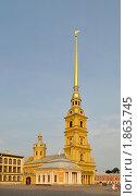 Купить «Ботный домик и Петропавловский собор», фото № 1863745, снято 23 июля 2010 г. (c) Виктор Карасев / Фотобанк Лори