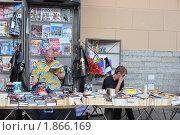 Купить «Продают книги на улице города», фото № 1866169, снято 21 июля 2010 г. (c) griFFon / Фотобанк Лори