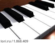 Клавиши пианино, 3D. Стоковая иллюстрация, иллюстратор Вишняков Андрей / Фотобанк Лори