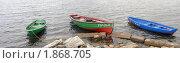 Лодки на берегу Белого моря (2010 год). Редакционное фото, фотограф Марина Коробанова / Фотобанк Лори