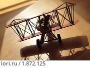 Самолет в лучах солнца. Стоковое фото, фотограф Карина Дорожкина / Фотобанк Лори