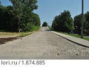 Сохранённый участок булыжной дороги г. Кострома (2010 год). Стоковое фото, фотограф Смирнов Денис / Фотобанк Лори