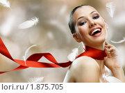 Купить «Портрет красивой брюнетки», фото № 1875705, снято 16 июля 2010 г. (c) Константин Юганов / Фотобанк Лори