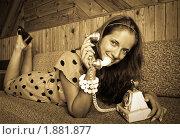 Купить «Женский портрет в стиле ретро», фото № 1881877, снято 7 июля 2010 г. (c) Дарья Филимонова / Фотобанк Лори