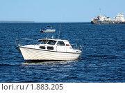 Корабли на Онежском озере. Стоковое фото, фотограф Максим Сидоров / Фотобанк Лори